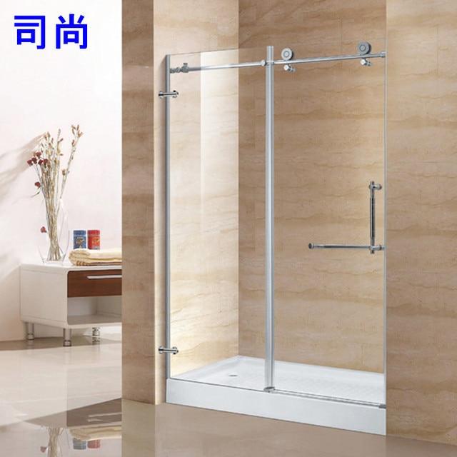 Explosion Models Hot 48 Stainless Steel Bathroom Shower Door Glass Fascinating Bathroom Partition Glass Model