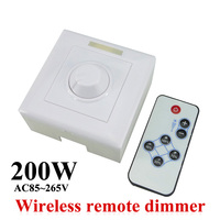 AC85 265V 200W LED Dimmer IR Knob Remote Control Switch For Dimmable LED Bulb Or LED