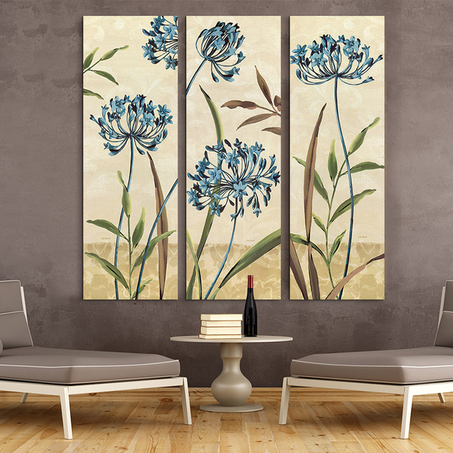 Aliexpress.Com : Buy Large Wall Art Home Decor Abstract Flower