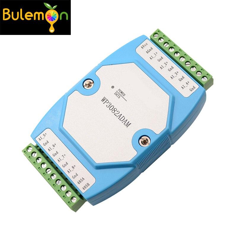 WP3082ADAM 8AI 0 20MA / 4 20MA Analog Input Module / RS485 MODBUS RTU Communications