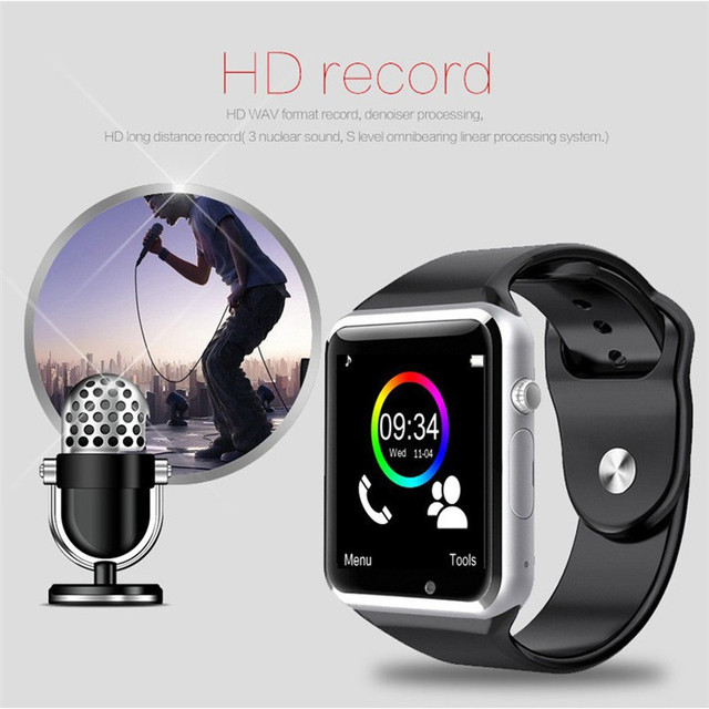 NO-BORDERS A1 WristWatch Bluetooth Smart Watch Sport Pedometer With SIM Camera Smartwatch for Android HUAWEI Apple Samsung watch 3
