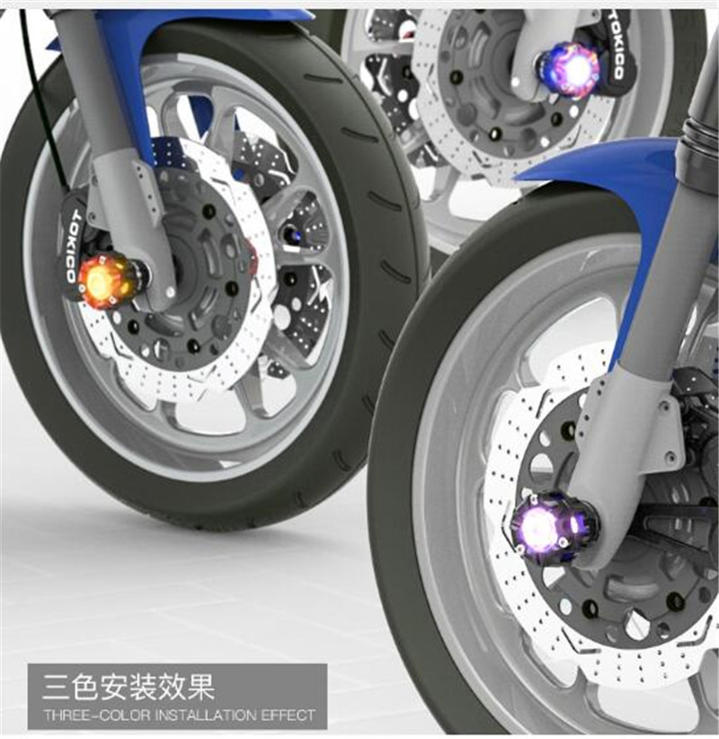 SPIRIT BEAST Motorcycle Drop Protection Device Decoration Modeling CNC Aluminum Alloy Drop LED Lamps Motor Protection in Falling Protection from Automobiles Motorcycles