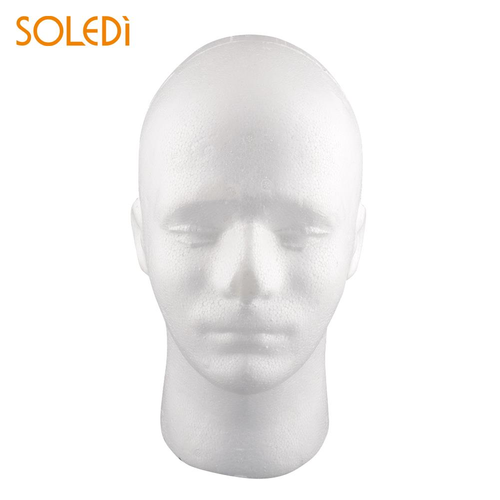 1 X HIGH QUALITY MALE POLYSTYRENE MANNEQUIN TORSO DUMMY HEAD SUNGLASSES DISPLAY