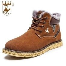 Winter Snow Boots Men Vintage Brand Design Retro Tactical Boots Cow Leather Male Warm Shoes Size Eu 38-44 A877