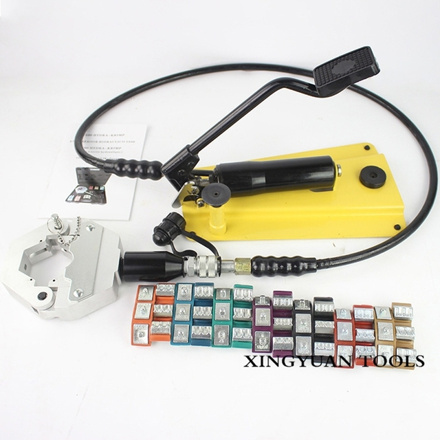 Hose Crimping Tool >> Free Shipping Foot Hydraulic Hose Crimper For Air Condition