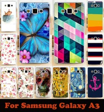 Soft Phone Cases For Samsung Galaxy A3 2014 SM A300FU A300 A3000 A3009 A300F Case Flowers