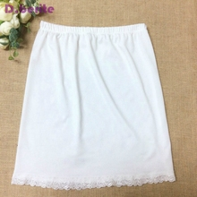 여성 허리 슬립 레이디 블랙 화이트 짧은 Underskirt 부드럽고 편안한 코튼 길이 40cm 페티코트 하프 슬립 새로운 YYY9381
