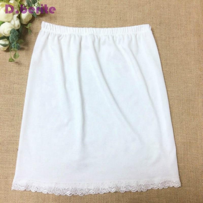 Женский короткий подъюбник, черный, белый, мягкий и удобный, хлопок, длина 40 см, полукомбинезон, YYY9381
