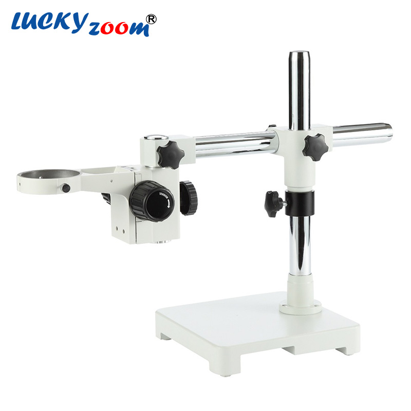 Luckyzoom Single Boom Stand For Trinocular Stereo Zoom Microscope Stage Focus Arm Holder Microscopio Accessories Free Shipping lucky zoom brand strong darticulating arm pillar clamp stand for stereo microscopes microscope accessories free shipping