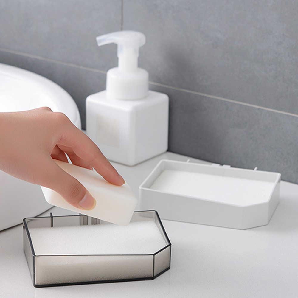 1 PC-bezpłatny pudełko na mydło łazienka spustowy kreatywne ściany wiszące mydelniczka łazienka półka ssania kubek mydelniczka