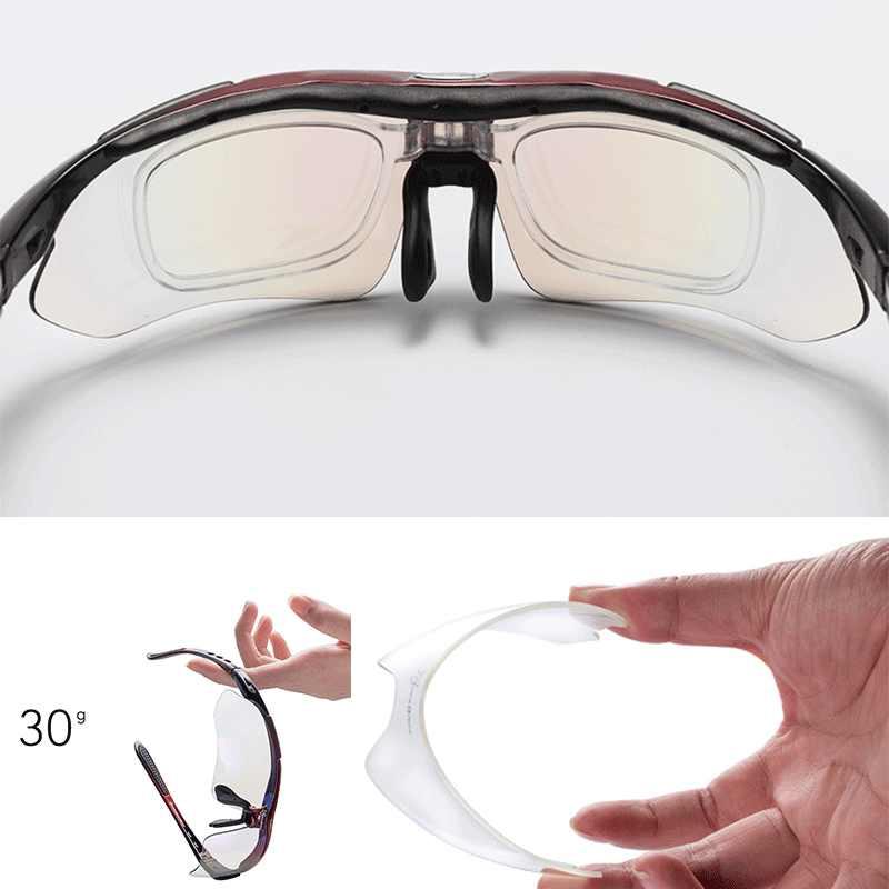ROCKBROS spolaryzowane okulary sportowe mężczyźni kolarstwo szosowe Mountain Bike jazda na rowerze gogle ochronne 5 obiektyw