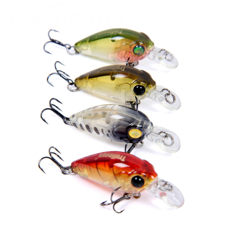 Tsurinoya DW24 35mm 3.5g 1.2m Mini Crank Fishing Lure (10 color available) Hard Bait with Hooks Fishing Tackle Pesca