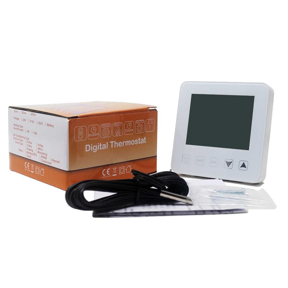 WIFI דיגיטלי לקיר חימום טרמוסטט Alexa קול בקרת AC 90-240 V 16A חכם חשמלי חימום טמפרטורת בקר 5-35C