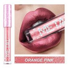 1PCS Glitter Lippenstift Flüssige Make Up Wasserdicht Metallic Lip Gloss Set langlebige Schimmer Metall Lipgloss Farbton Charming Glitter