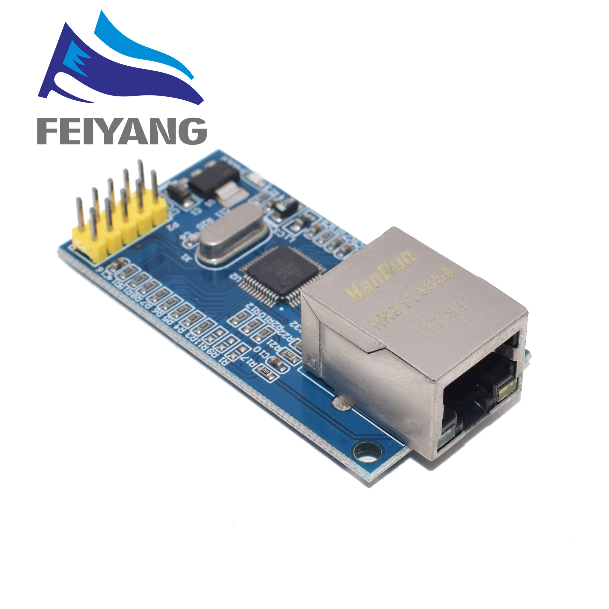 10pcs W5500 Ethernet network module hardware TCP IP 51 STM32 microcontroller program over W5100