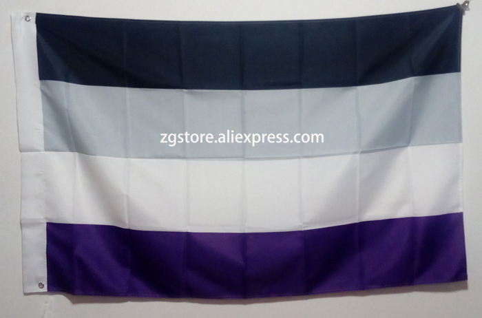 <font><b>Asexual</b></font> <font><b>Flag</b></font> hot sell goods 3X5FT 150X90CM Custom Banner brass metal holes image
