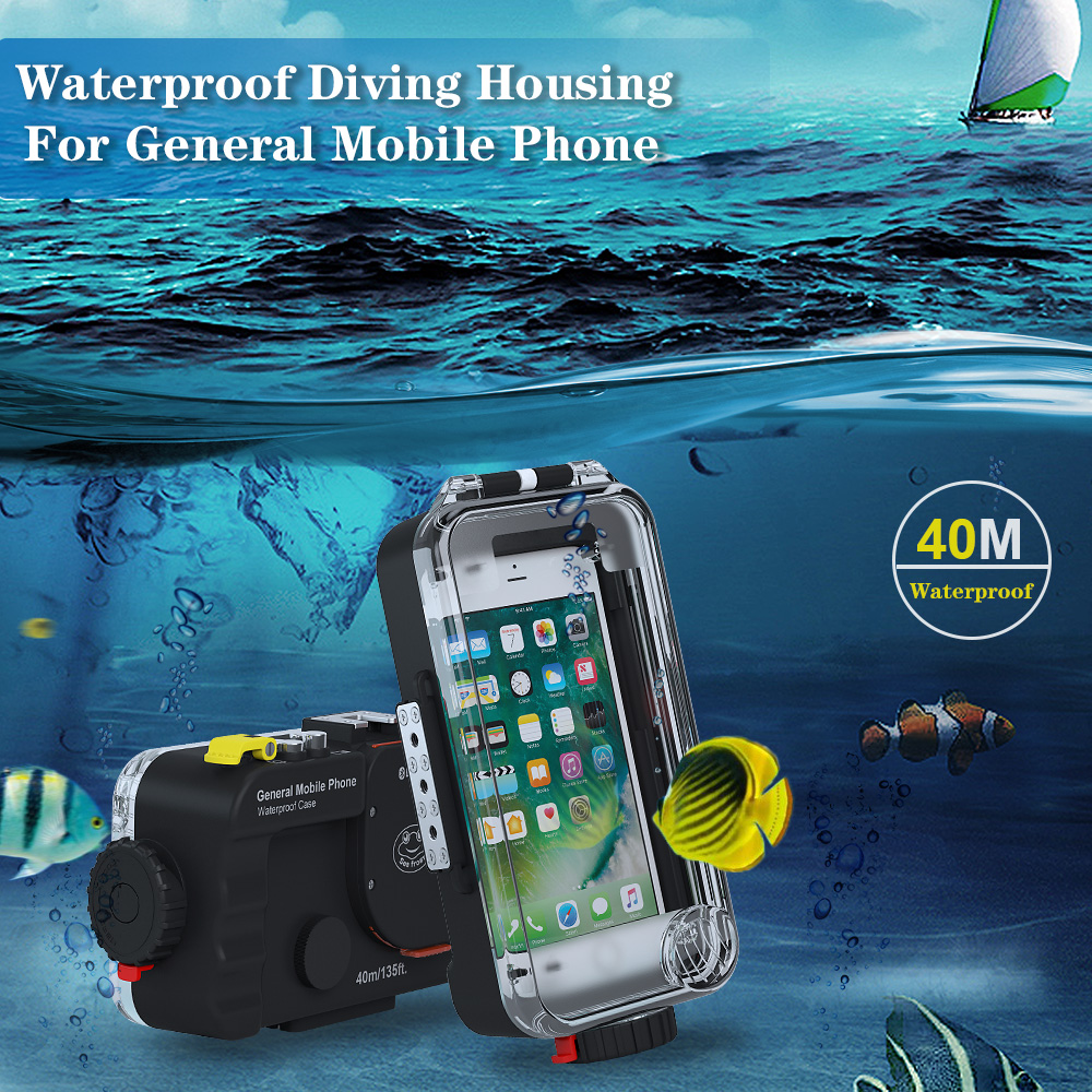 Universal Waterproof case For Huawei P30 P20 Pro P10 Lite Plus Honor 8A 9 7A 7C 10 20 Cover Photo Diving housing Underwater - 2