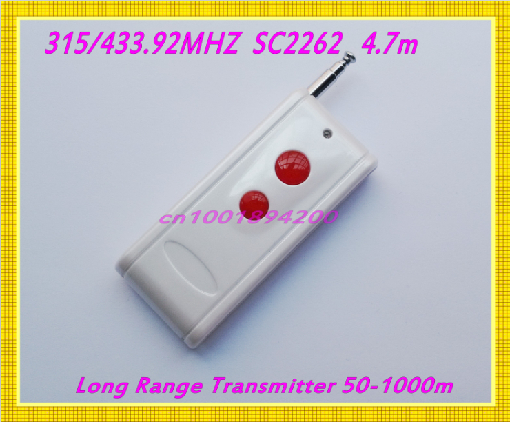 Radio Remote Controller Long Range Far Distance Transmitter 315/433MHZ 2 Button Remote 50-1000m Remote Transmitter niorfnio portable 0 6w fm transmitter mp3 broadcast radio transmitter for car meeting tour guide y4409b