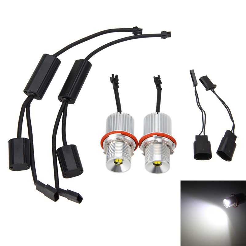 2PCSx 4 LED 40W Headlight Angle Eye Halo Light For BMW E39 E53 E60 M5 E61 E63 X3 X5