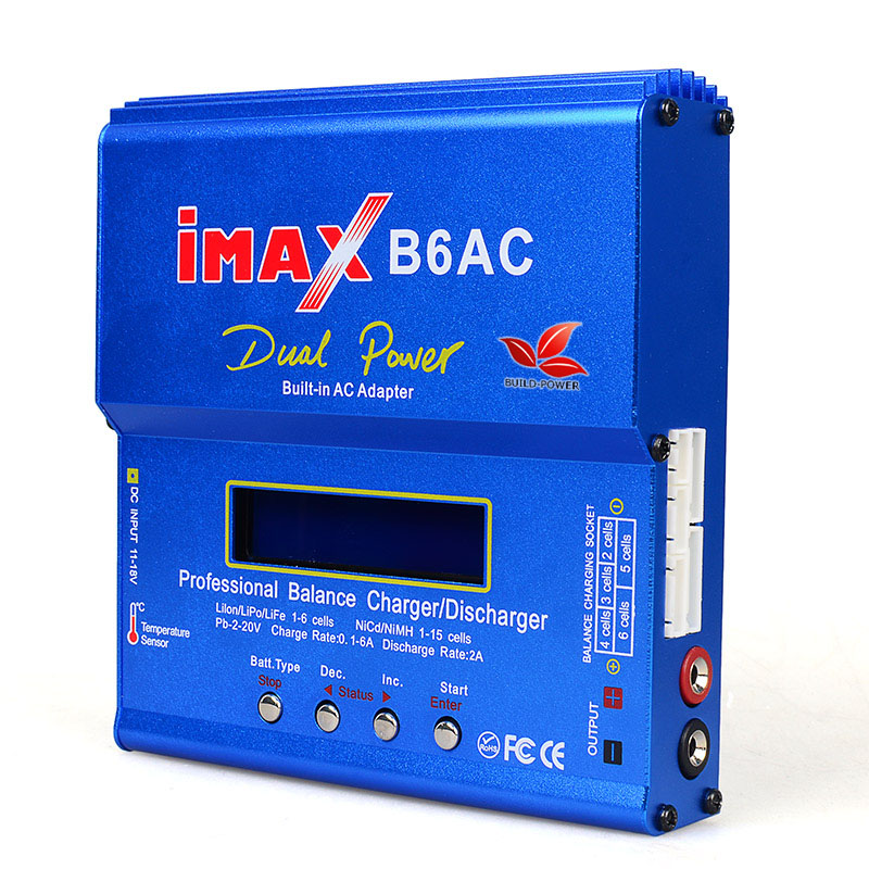 Build-Power IMAX B6 AC 80W B6AC Lipo NiMH 3S/4S/5S RC Battery Balance Charger + EU US AU UK plug power supply wire купить недорого в Москве