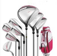 New Women Golf clubs complete clubs set Golf Driver+Fairway wood+irons Clubs Golf Set Graphite Golf shaft Free shipping