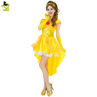 Movie Beauty And The Beast Costume Adults Women Sassy Belle Princess Fairy Suit Halloween Costumes For