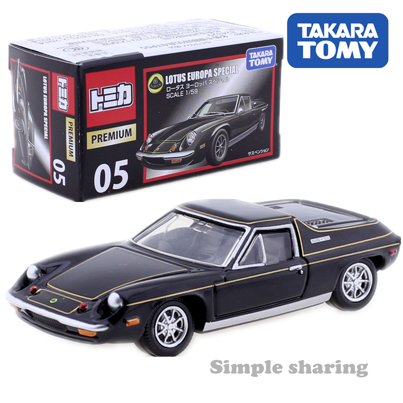 Takara Tomy Tomica Premium No. 05 Lotus Europa Mould Scale 1:59 Alien AUTO CAR Motors Vehicle Diecast Metal Model New Toys