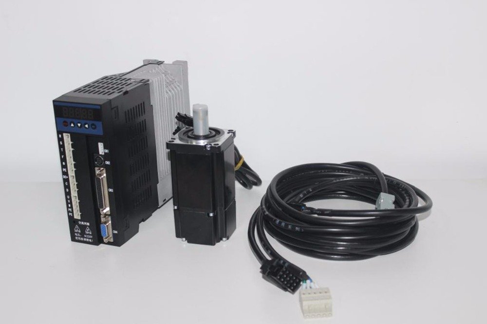 single phase 220V 1000W 1KW 4N.m 2500rpm NEMA34 AC servo motor drive kit 2500ppr with 3m cable