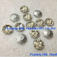 6mm 8mm 10mm 12mm 14mm Plum Flower Shape100pcs Crystal Glass Sew On Stones DIY Drsss Crystal