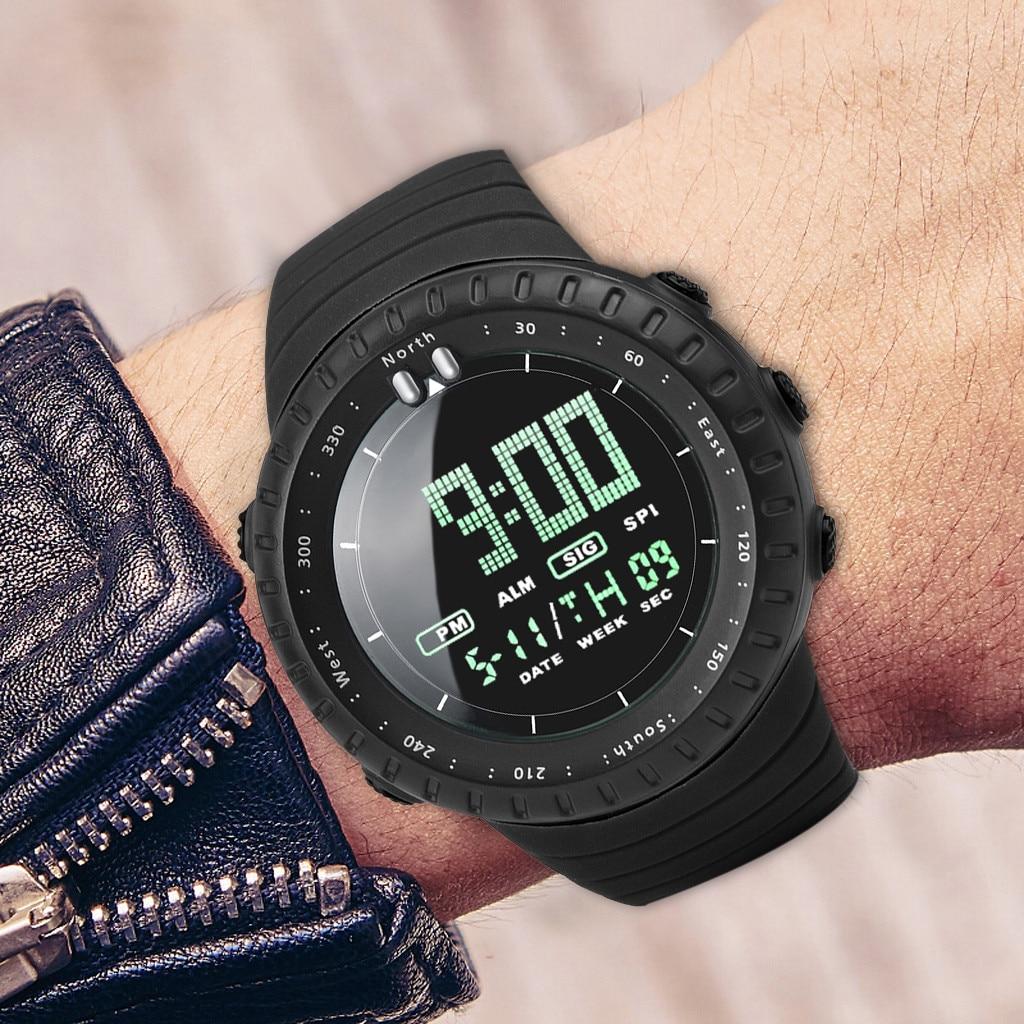 Watch Digital Clock Military Waterproof Sports Display Men's Fashion Step LED Brand Silicone