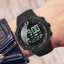 Модные Военные спортивные мужские часы с цифровым дисплеем, водонепроницаемые, ступенчатые, силиконовые часы, топ, люксовый бренд, светодиодный, мужские наручные часы A5