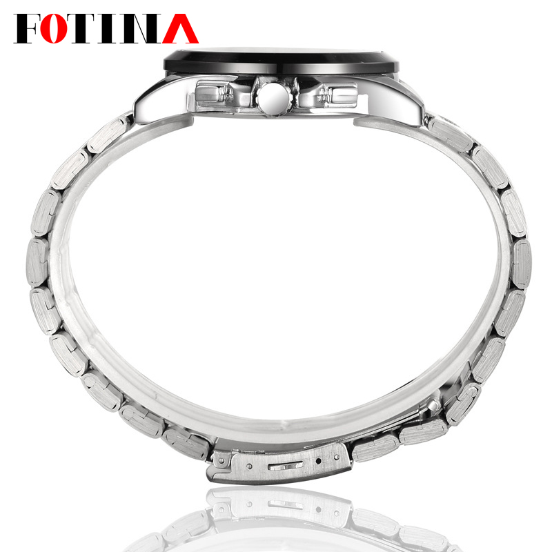 FOTINA Top Brand BOSCK Casual Business Watch Men Stainless Steel Water Resistant Quartz Clock Auto Day Date Watches Montre Homme 5