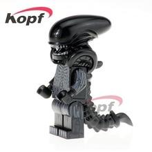 Single Sale PG1050 Super Heroes Zombie One Eyed Alien Halloween Cyclops Omino Snake Undead Building Blocks