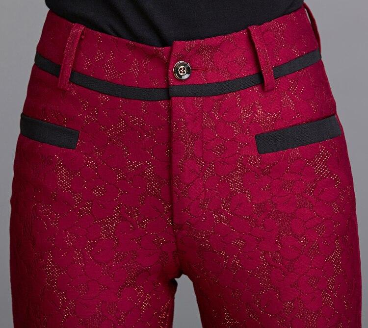 Filles Vêtements Nouveau rouge 2019 D'éléphant 79080 Mode Pantalon Sac Pantalons Femme Dentelle Femmes Taille Bleu Kelly Grande Décontracté Pattes ZFdvq