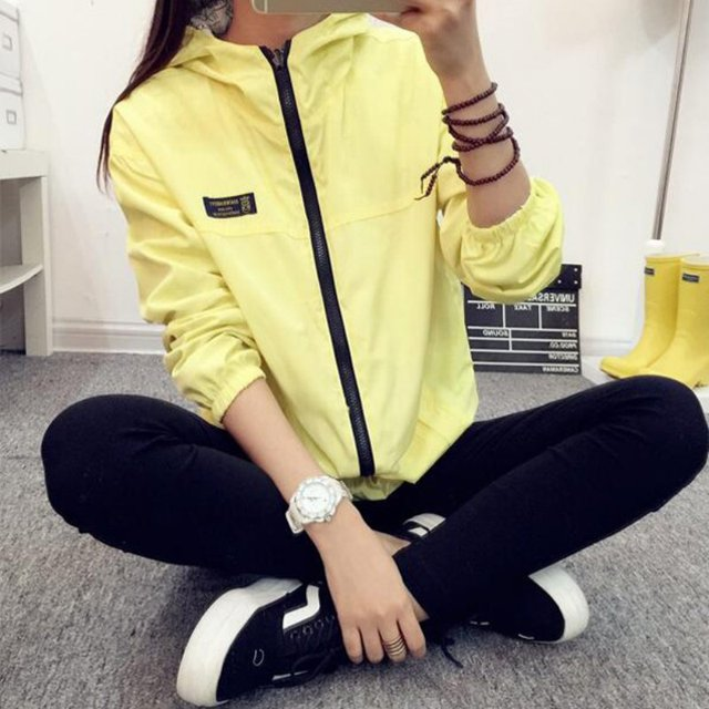 Spring Autumn Cartoon Print Hooded Two Side Wear Jacket 2