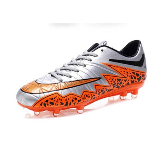 f8faa2edb1bda 6 colores hombres cómodos ligeros de fútbol Zapatos césped FG Fútbol tacos  para adultos marca niños