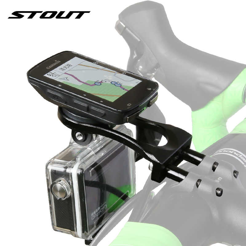 Gemuk Sepeda Komputer CNC Pemegang Kamera GoPro Mount Road Sepeda Stang Ekstensi MTB Speedometer Dukungan Garmin Bryton CATEYE