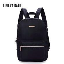 Tinyat черный рюкзак для женщин европейский стиль 14 дюймов ноутбук рюкзак небольшой backbag рюкзак девушки школьная сумка mochila