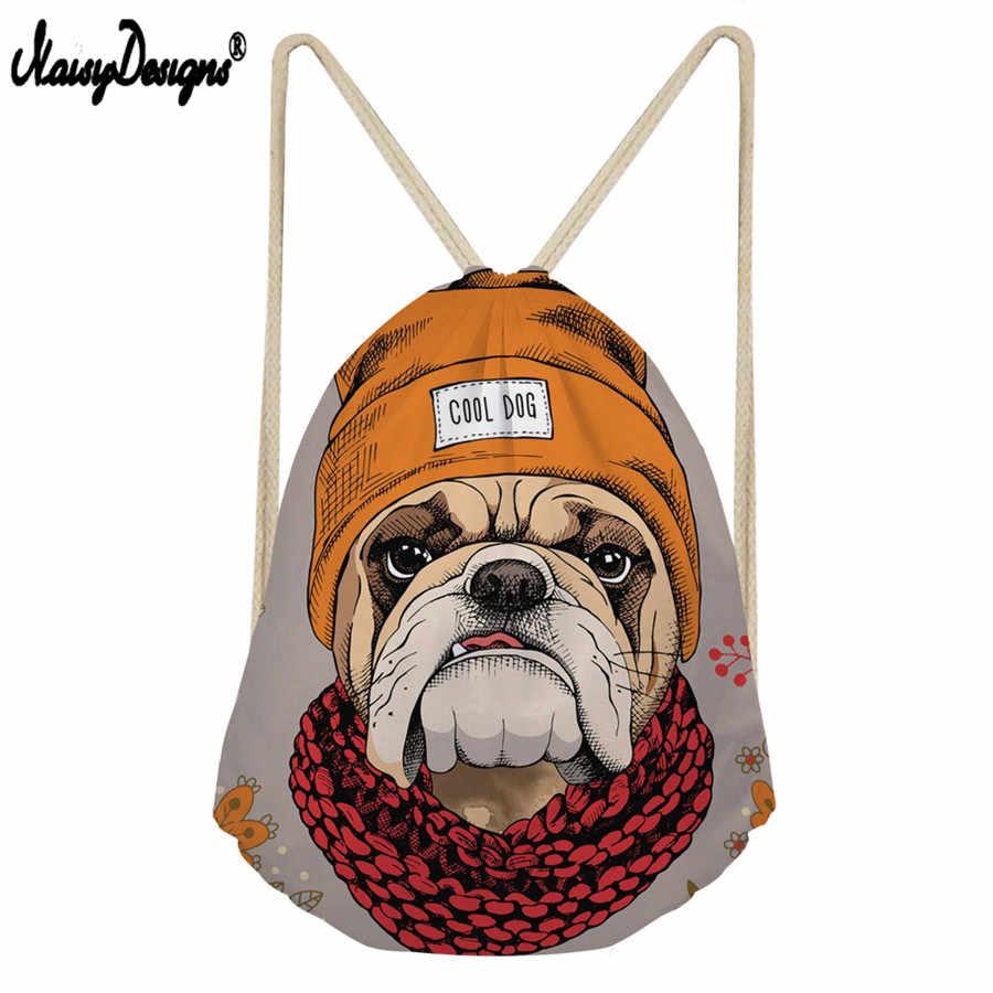 Сумка на шнурке с объемным рисунком щенка, Бостон-терьер, забавный пакет для детей, мальчиков и девочек, сумки для влюбленных, рюкзак