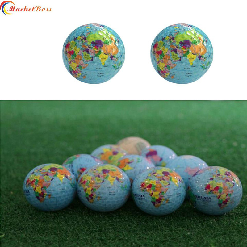New Style Earth Globe Golf Ball Durable Practice Training Aids World Map Stylish Gift High Quality