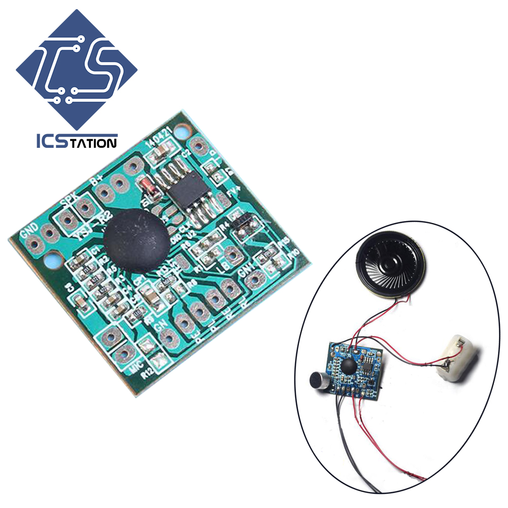 все цены на Voice Record Playback Module Sound Board 120 Second For Toy Gift Accessaries Talking Music Audio Recordable Board онлайн