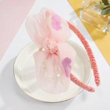 CHIMERA Lovely Kids Hairband Big Chiffon Flower Hair Hoop Cute Pink Headband for Children Girls Wedding Party Accessories