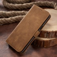 Luxury For Samsung Galaxy S8 Cover Leather Genuine Mesh Check 6 2 Flip For Smasung Galaxy