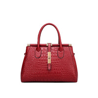 High Grade Crocodile Pattern Leather Ladies Handbags Europe And The United States New Women S Buckle