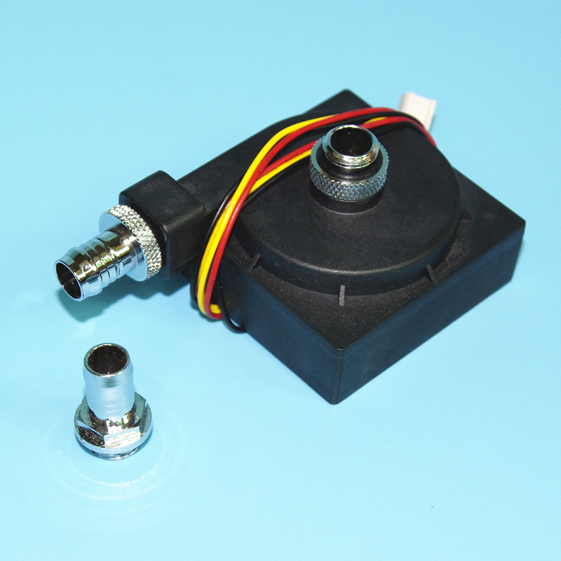 DC12V ultra-thin computer water cooling cooler mute circulating pump G1/4 thread very quiet noise almost