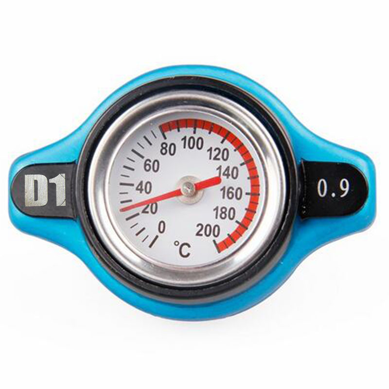 2017 New 0.9 Bar Thermo Thermostatic Radiator Cap Cover with Water Temperature Gauge Universal For Nissan Mazda Kia and Subaru