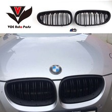 2004-2009 Kidney Shape ABS Plastic Matte Black Auto Car E60 2-line M5 Style Front Racing Grill Grille for BMW E60 5 Series