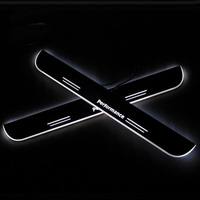 LED Car Scuff Plate Trim Pedal Door Sill Pathway Moving Welcome Light For BMW F20 F21 2012 2015 2016 2017 Waterproof
