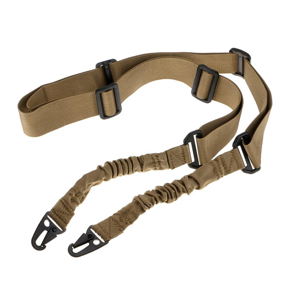 Nylon de múltiples funciones ajustable de dos puntos Tactical Rifle Sling correa