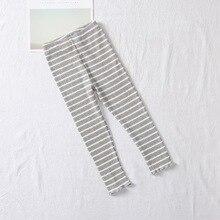 Autumn Baby Girls Pants Stripe Print Leggings Children Cute Stretchy Warm Trousers Bottoms